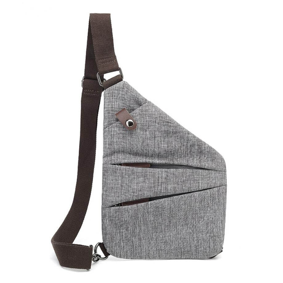 cross shoulder bag-gray