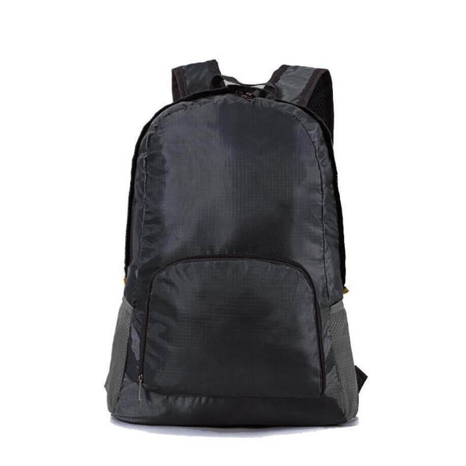 black foldable backpack
