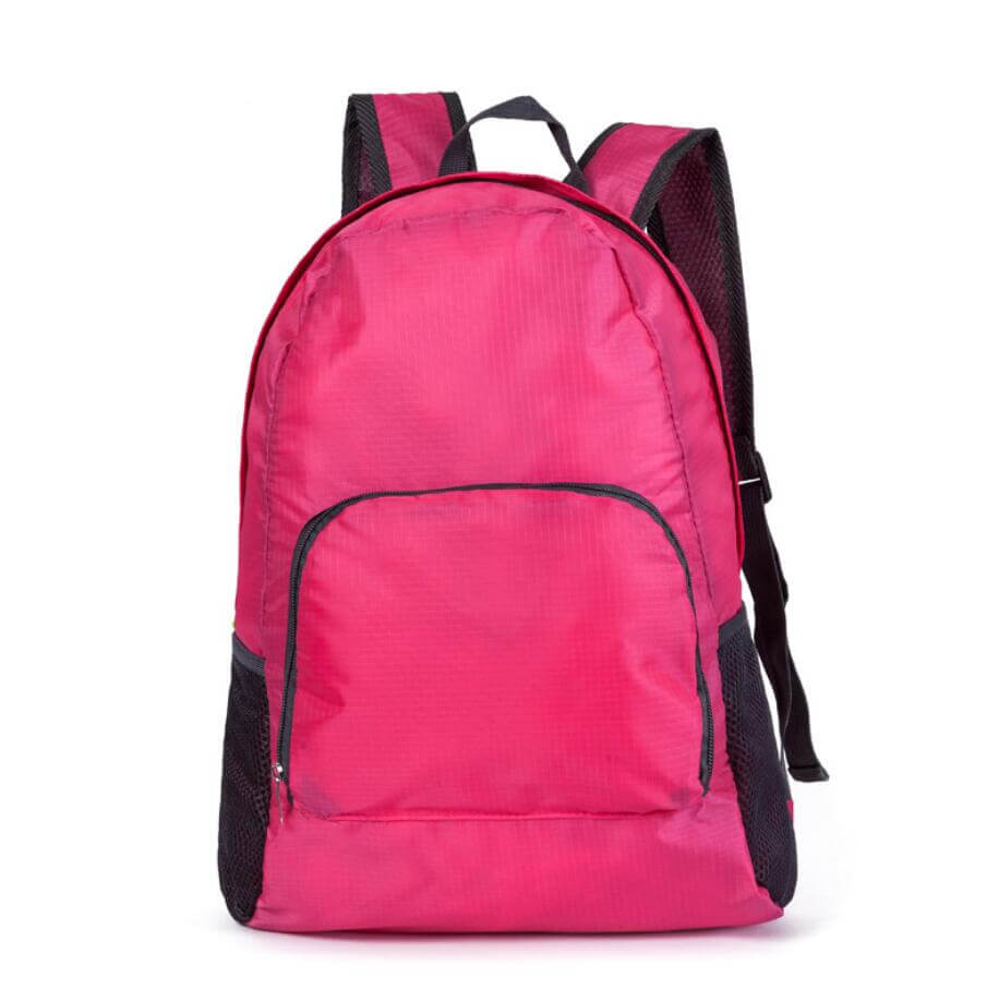 pink foldable backpack