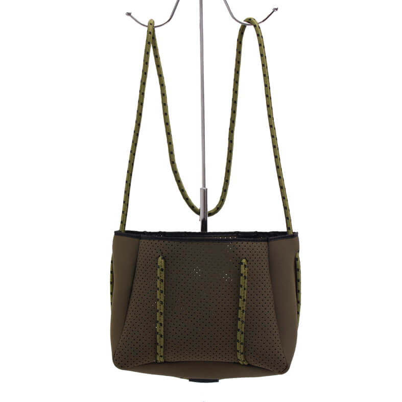 Fashionable style ladies handbag lightweight neoprene tote bag wholesale