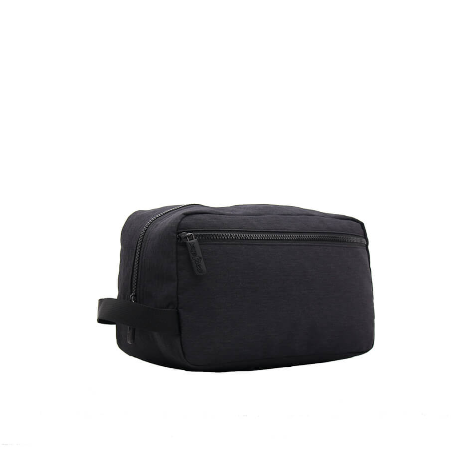 Blank cosmetic bag with black color for travel used-1