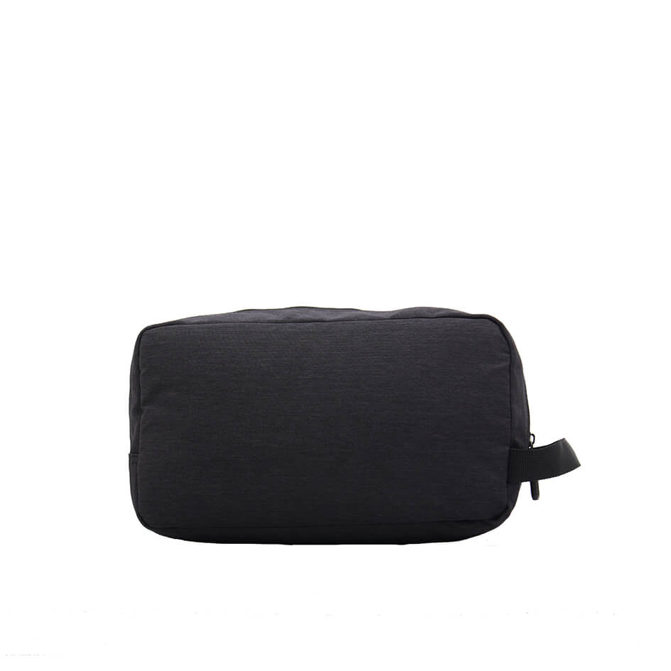 Blank cosmetic bag with black color for travel used