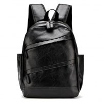 Custom LOGO PU leather travelling backpack manufacturer-1