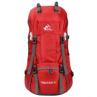 Large capacity 60L backpack outdoor hiking bag with rain cover-1