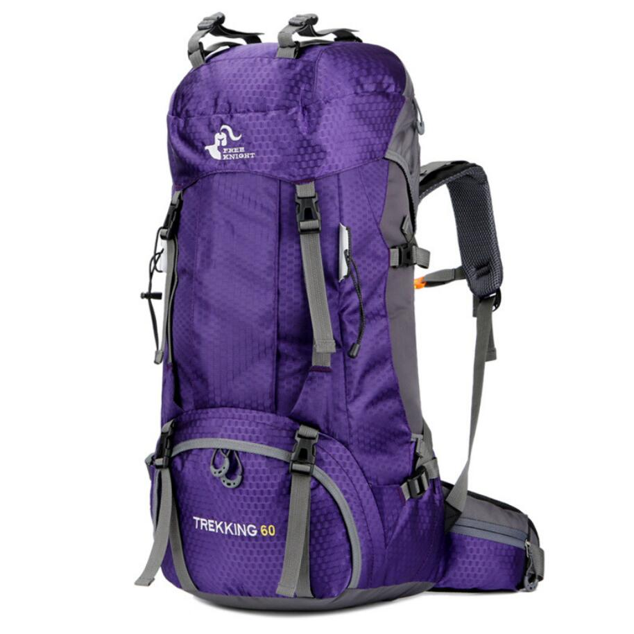 Large capacity 60L backpack outdoor hiking bag with rain cover-3
