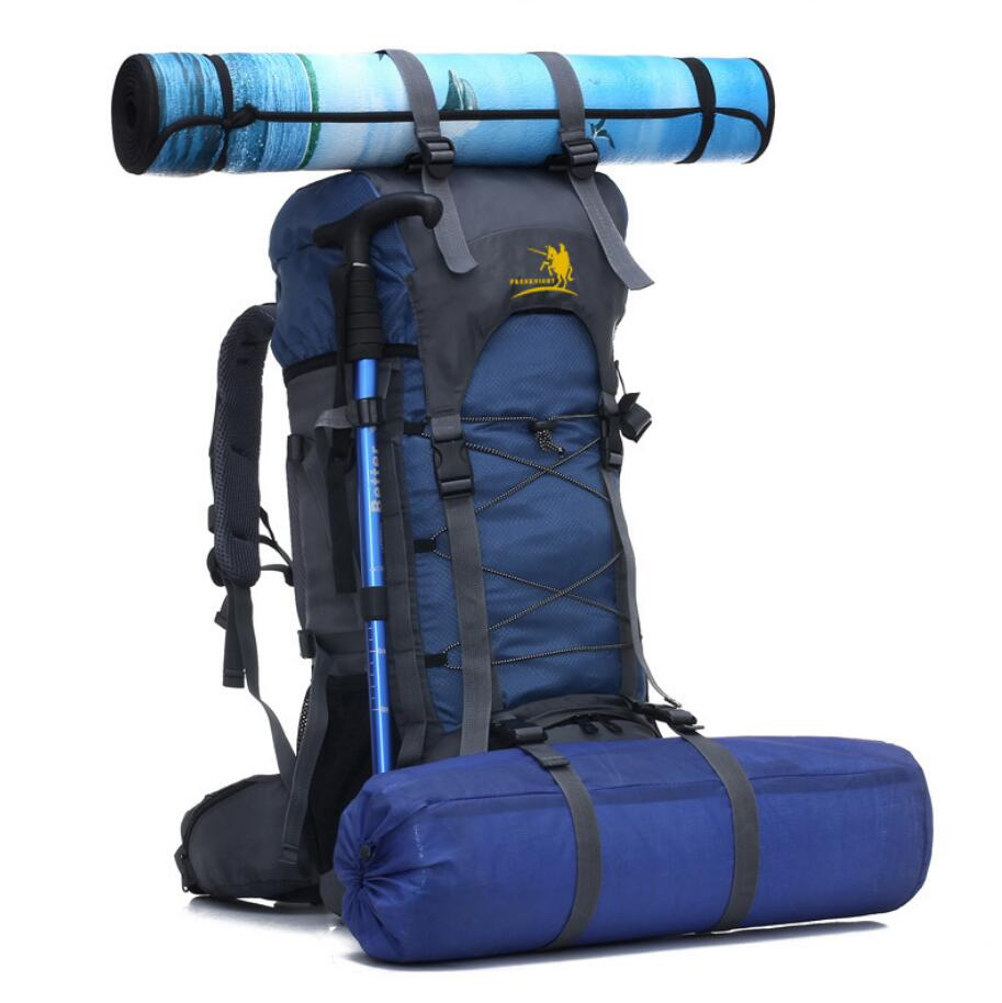 Manufacturer wholesale custom 60L outdoor sports bag waterproof mountaineering bag-3