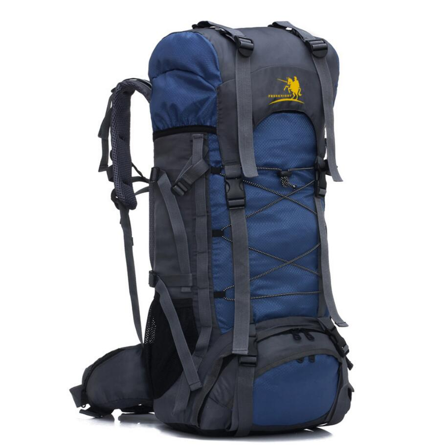 Manufacturer wholesale custom 60L outdoor sports bag waterproof mountaineering bag