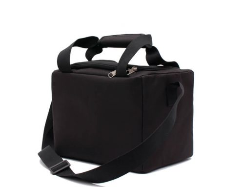 Custom Classic Compartment Insulated Lunch Simple Cooler Bag Black