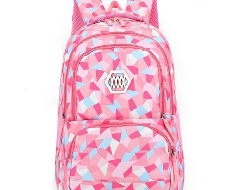 Geometric Prints Preppy Schoolbag Manufacturer