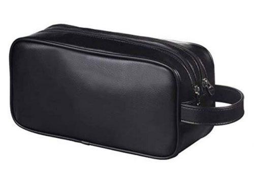 custom leather cosmetic bag